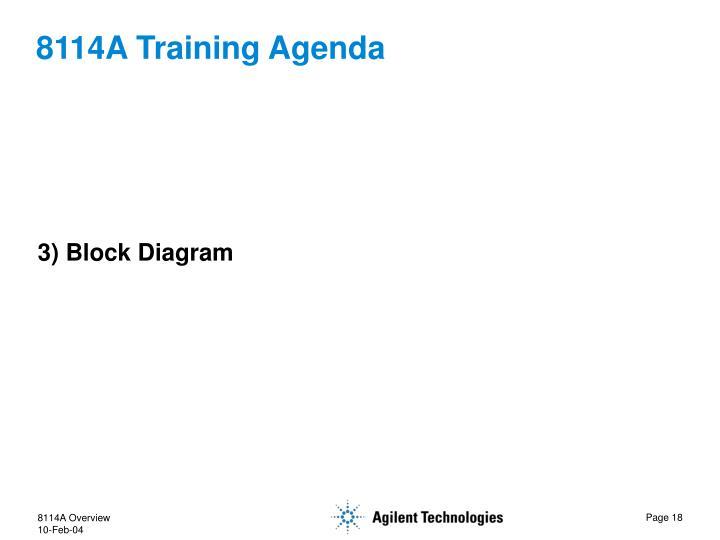 8114A Training Agenda
