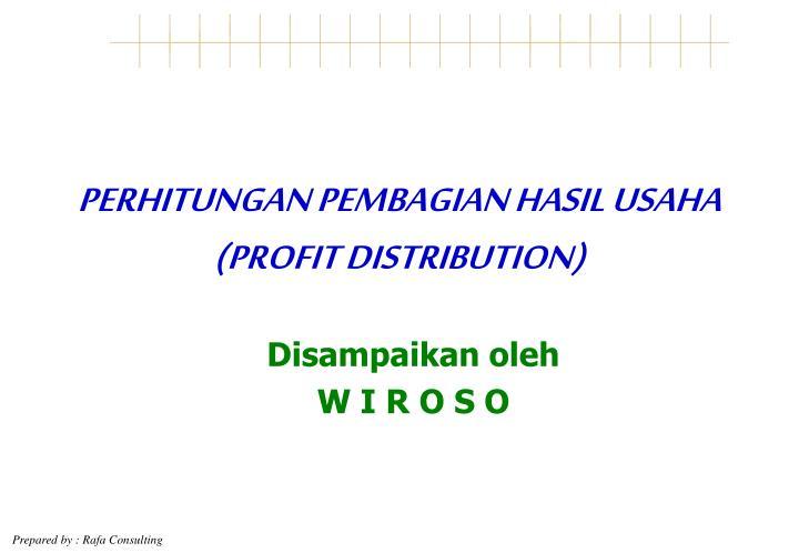 perhitungan pembagian hasil usaha profit distribution n.