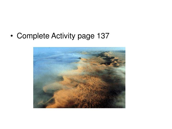 Complete Activity page 137