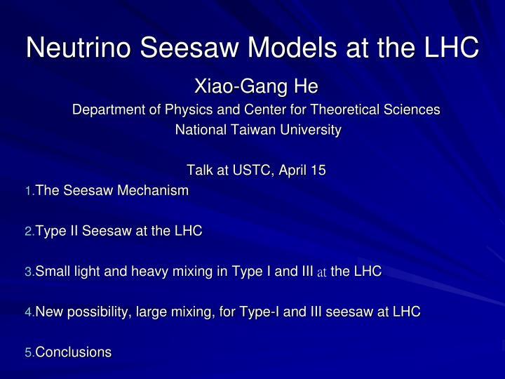 Neutrino seesaw models at the lhc