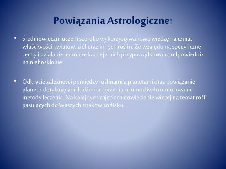 Powiązania Astrologiczne: