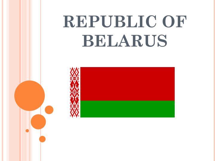 republic of belarus n.
