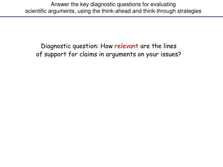 Diagnostic question: How