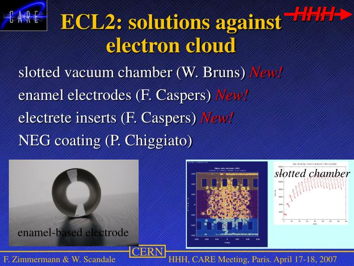 ECL2: solutions against electron cloud