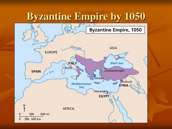 Byzantine Empire by 1050