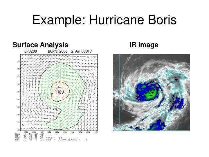 Example: Hurricane Boris
