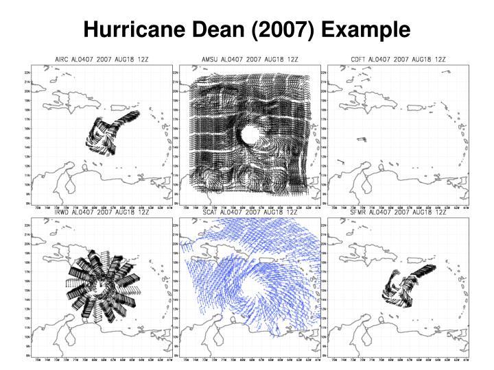 Hurricane Dean (2007) Example