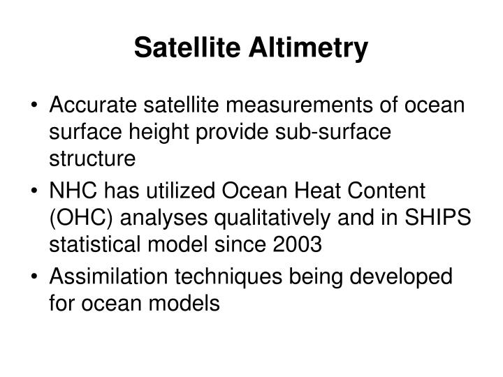 Satellite Altimetry