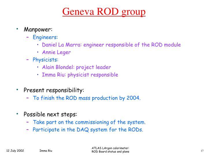 Geneva ROD group