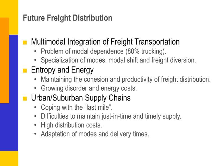 Future Freight Distribution