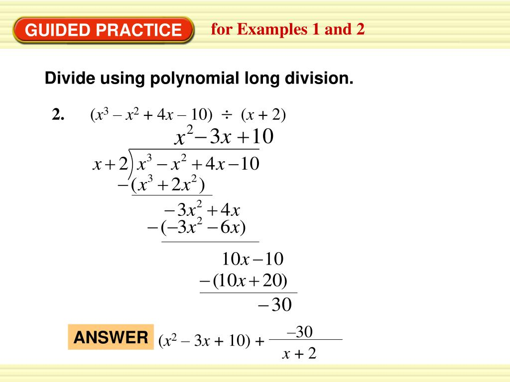 PPT - 1. Use Synthetic Substitution To Evaluate F ( X