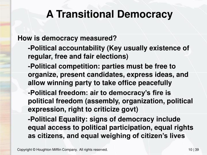 A Transitional Democracy