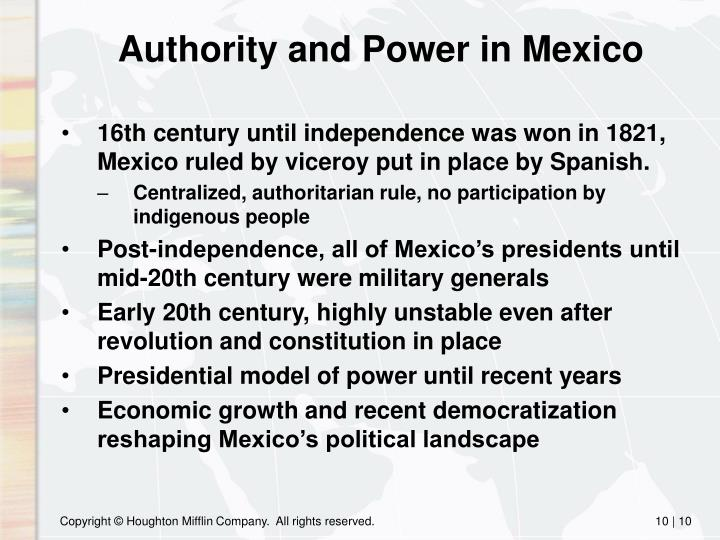 Authority and Power in Mexico