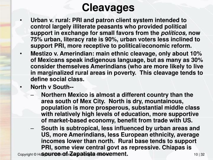 Cleavages