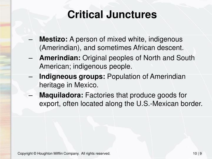 Critical Junctures