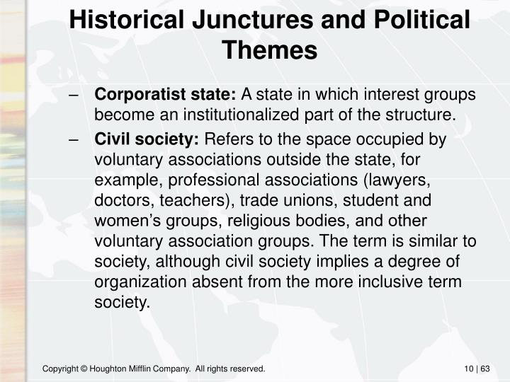 Historical Junctures and Political Themes