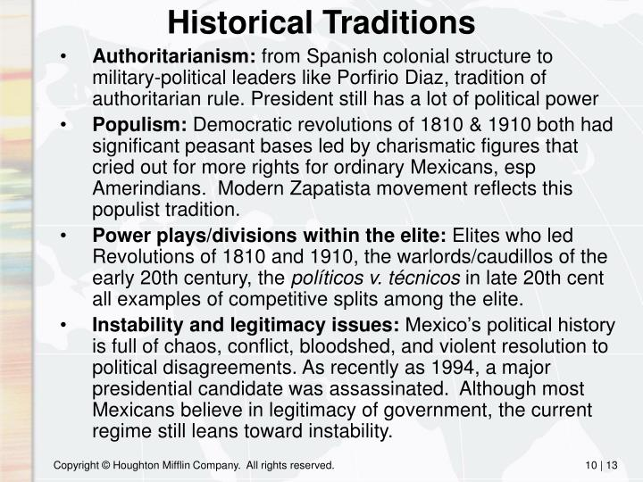 Historical Traditions