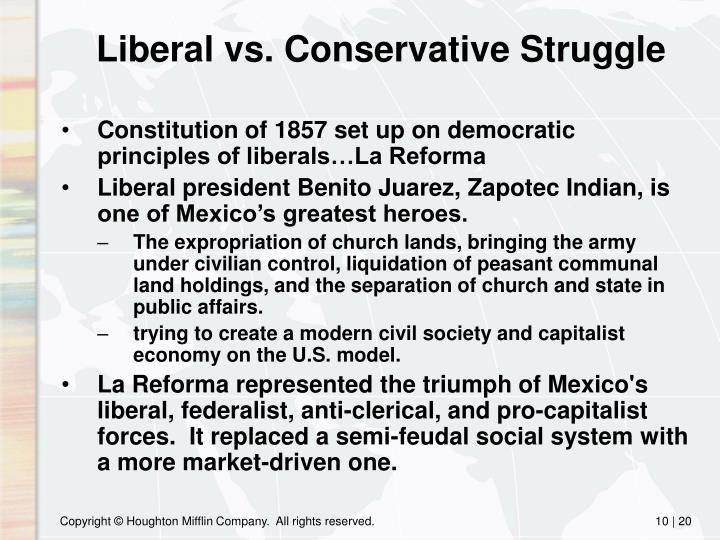 Liberal vs. Conservative Struggle