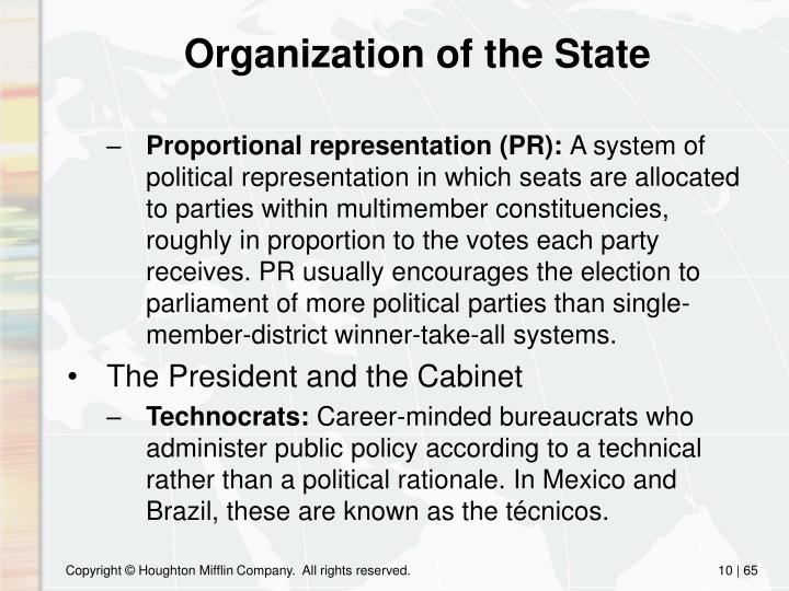 Organization of the State