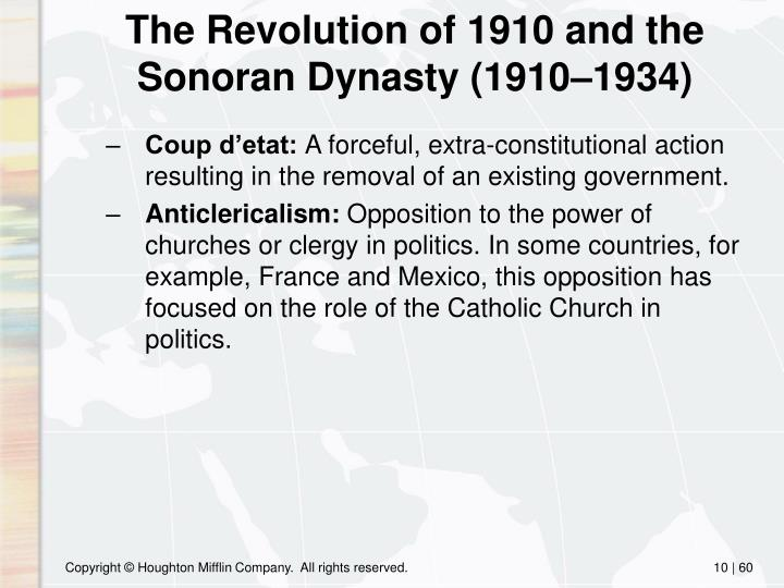 The Revolution of 1910 and the Sonoran Dynasty (1910–1934)