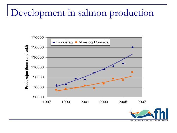 Development in salmon production