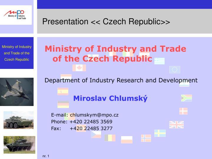 presentation czech republic n.