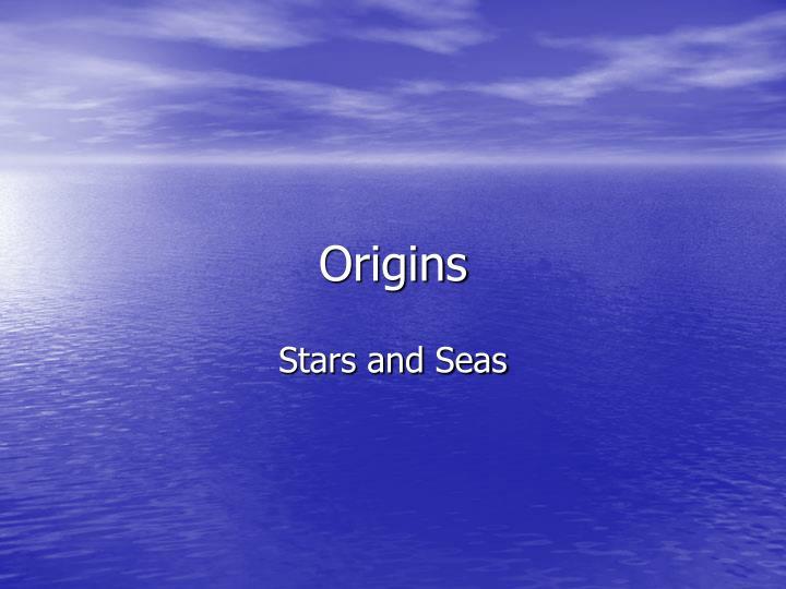 origins n.
