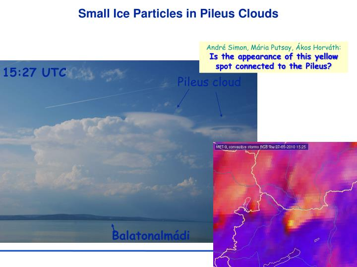 Small Ice Particles in Pileus Clouds