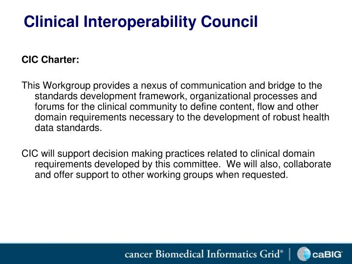 Clinical Interoperability Council