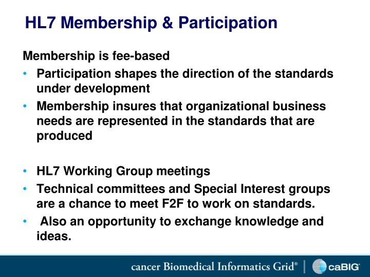 HL7 Membership & Participation
