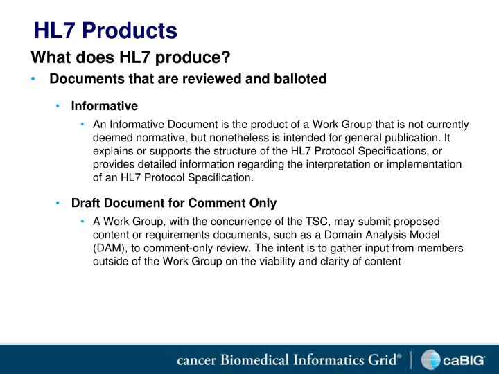 HL7 Products