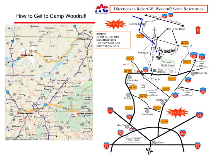 How to Get to Camp Woodruff