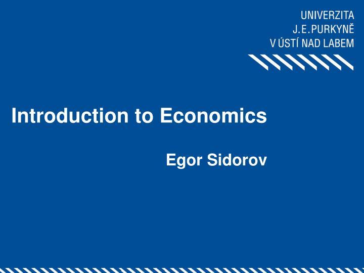 introduction to economics n.