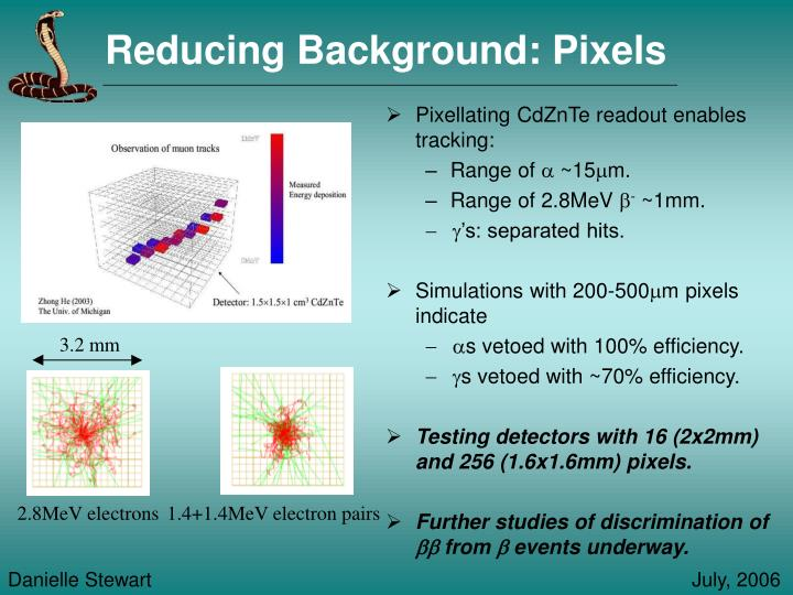Reducing Background: Pixels
