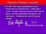 density change example