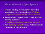 growth curve for open systems