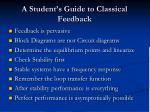 a student s guide to classical feedback