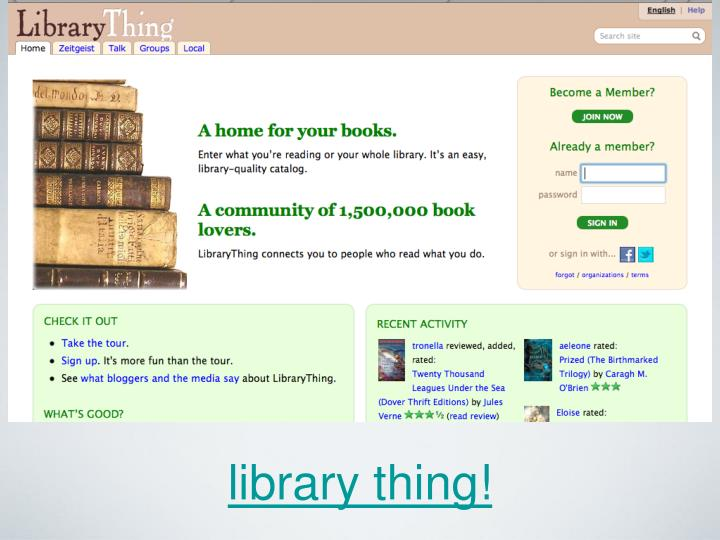 library thing!