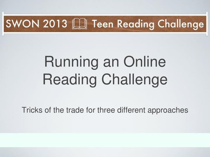 Running an online reading challenge