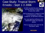 case study tropical storm ernesto sept 1 3 2006