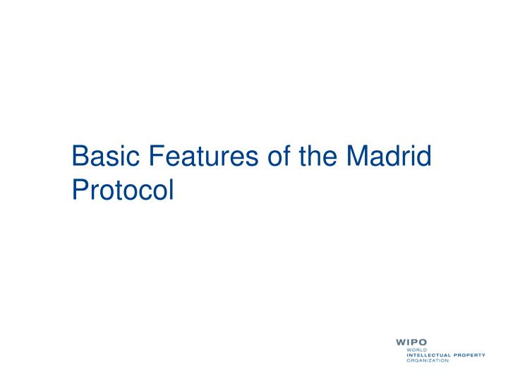 Basic Features of the Madrid Protocol