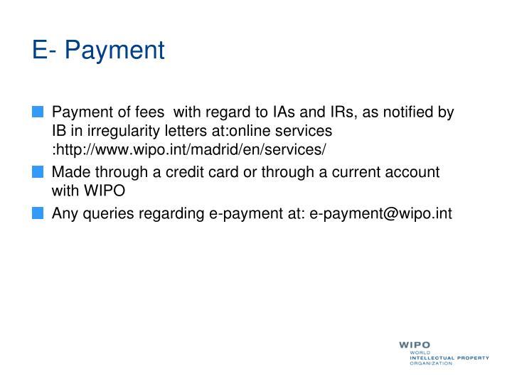 E- Payment
