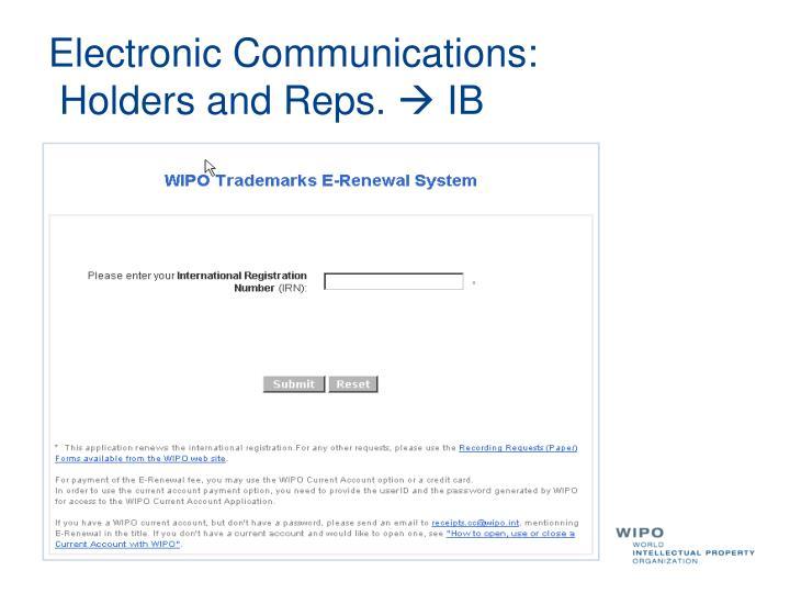 Electronic Communications: