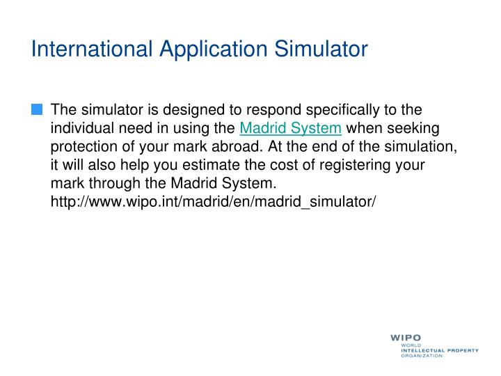 International Application Simulator