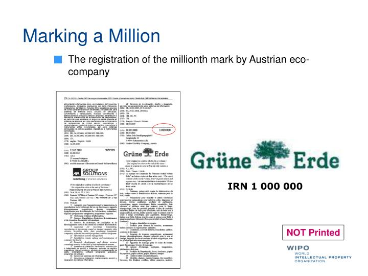 Marking a Million