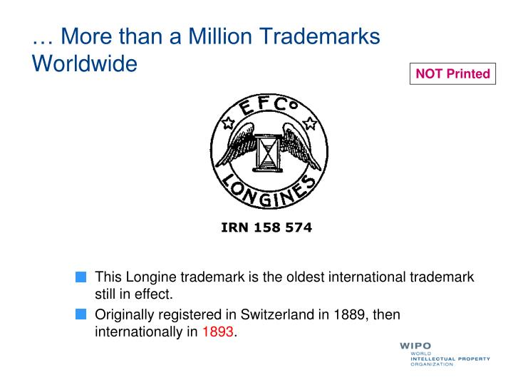 More than a million trademarks worldwide