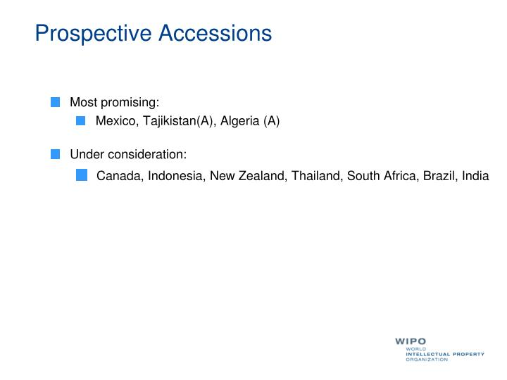 Prospective Accessions