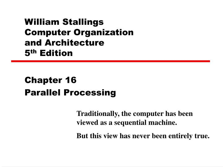 william stallings computer organization and architecture 5 th edition n.