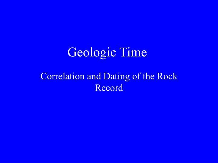 geologic time n.