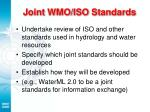 joint wmo iso standards